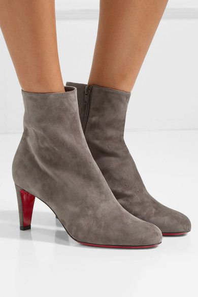 new concept f99df e1d9a CHRISTIAN LOUBOUTIN Top 70 Anthracite suede ankle boots ...
