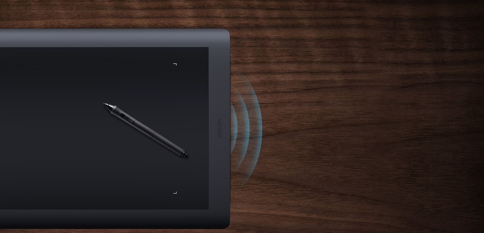 The large Intuos Pro is perfect for creative professionals who work in large format or who are trained to work from the shoulder or elbow.