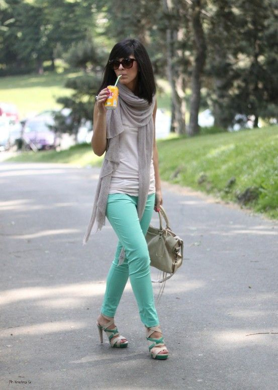 In love with the mint pants