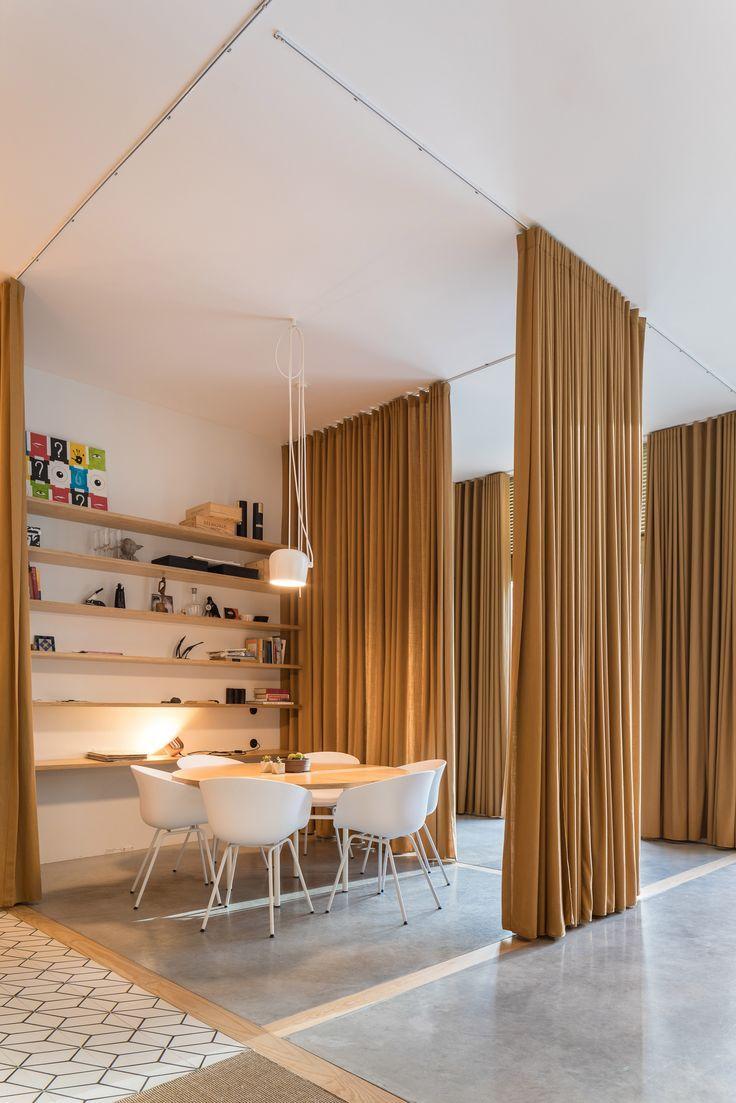 Separate Vorhänge in Büros in Lissabon Interieur Office