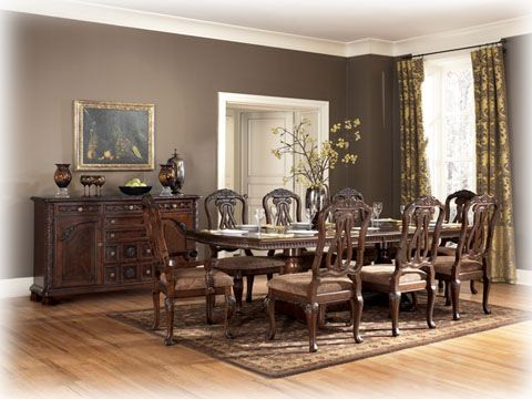 North Shore Traditional Dark Brown Wood Dining Room China