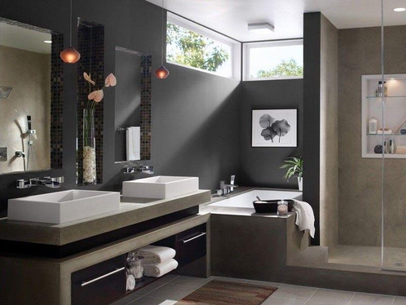 45 Grey Bathroom Ideas 2020 With Sophisticated Designs In 2020 Modern Bathroom Colours Minimalist Bathroom Design Modern Bathroom Design