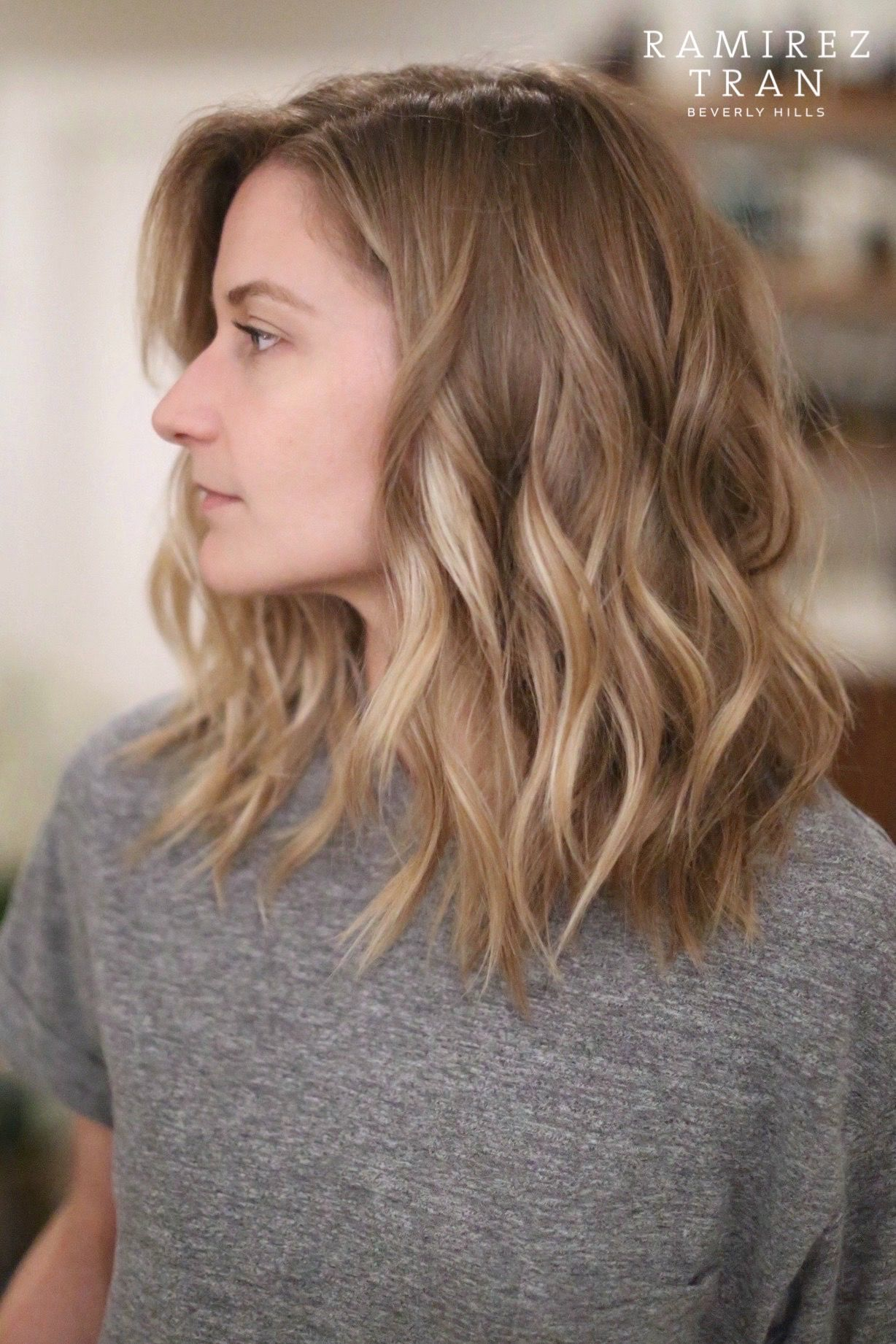 Coiffure Wave Sur Cheveux Mi-long Summer Hair People Decoration En 2018 Pinterest