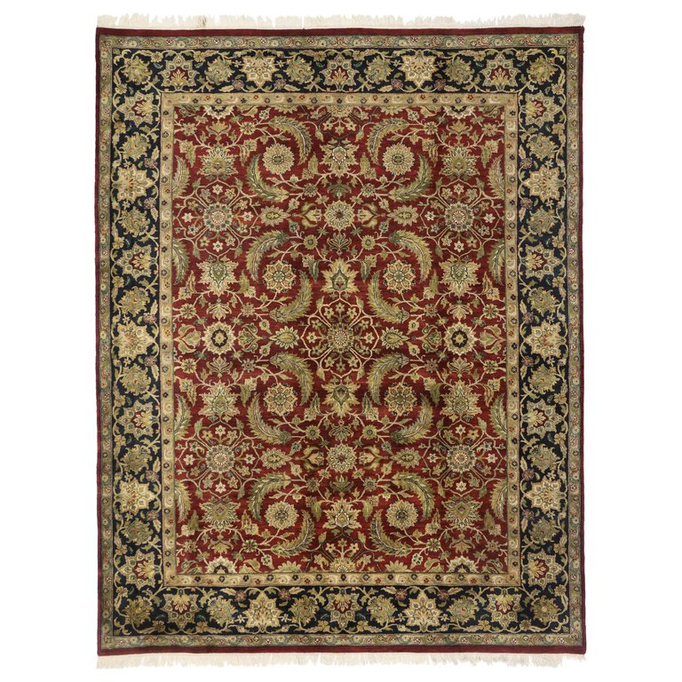 Vintage Traditional Indian Area Rug