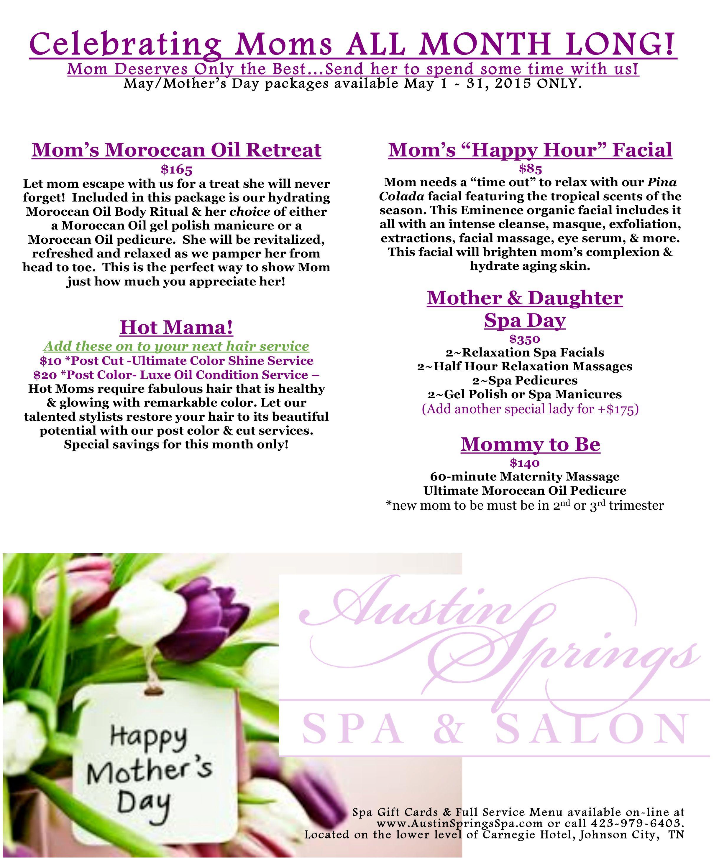 Austin Springs Spa Spa Specials Salon Promotions Spring Spa