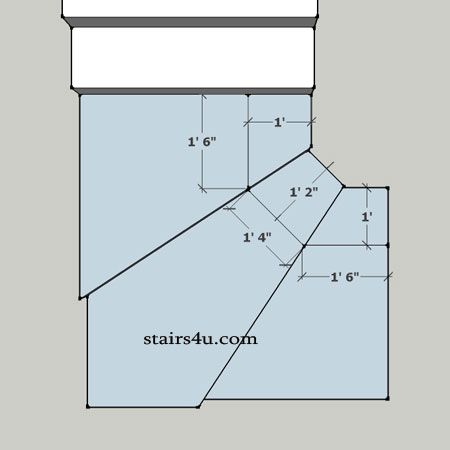 Winder Tread Or Step Minimum Stair Layout Building Stairs