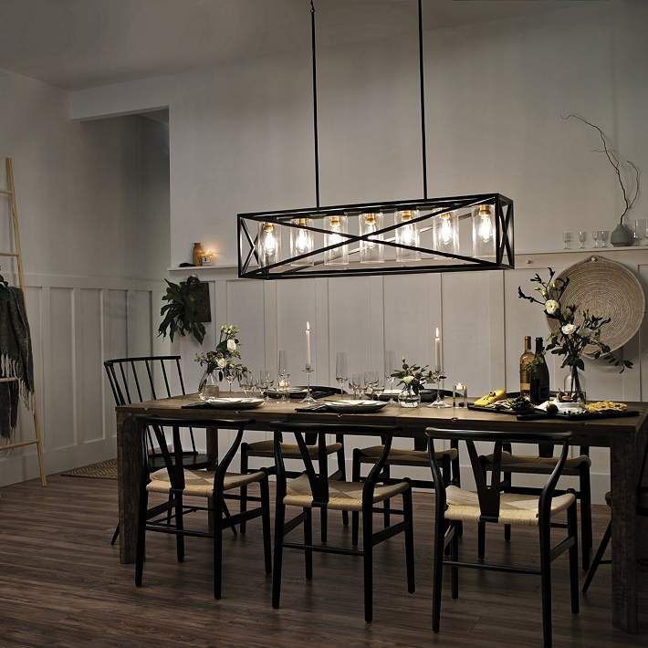 Black Kitchen Island Light Pendant, Farmhouse Dining Room Light Black