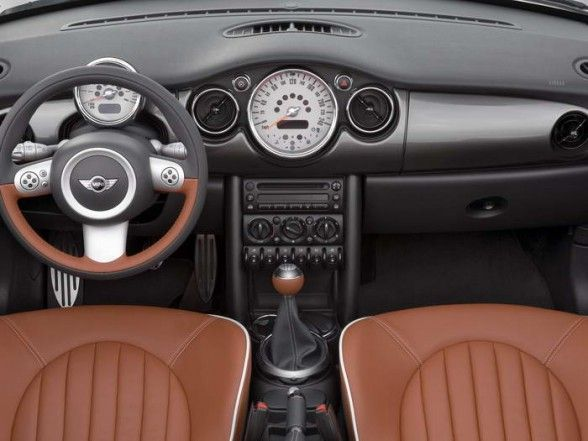2006 Mini Cooper S Convertible Sidewalk   Cockpit Interior View