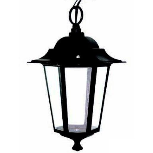 L mpara de techo farol negro exterior cl sico lamparas for Iluminacion exterior lamparas