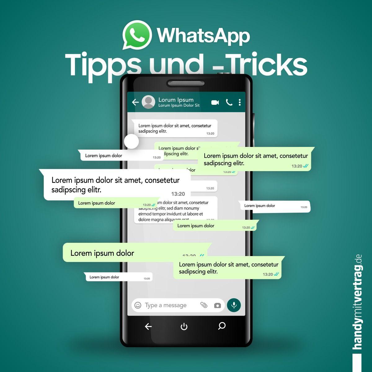 Wenn Auch Du Ein Treuer Whatsapp Nutzer Bist Und Die Versteckten Tricks Kennenlernen Mochtest Laden Wir Dich Ein U Whatsapp Tipps Tipps Und Tricks Handy Check