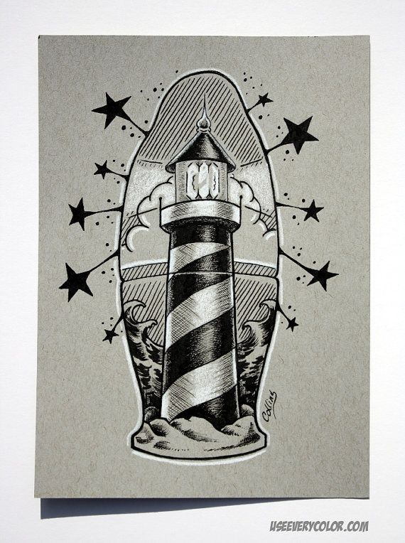 Traditional Lighthouse Drawings