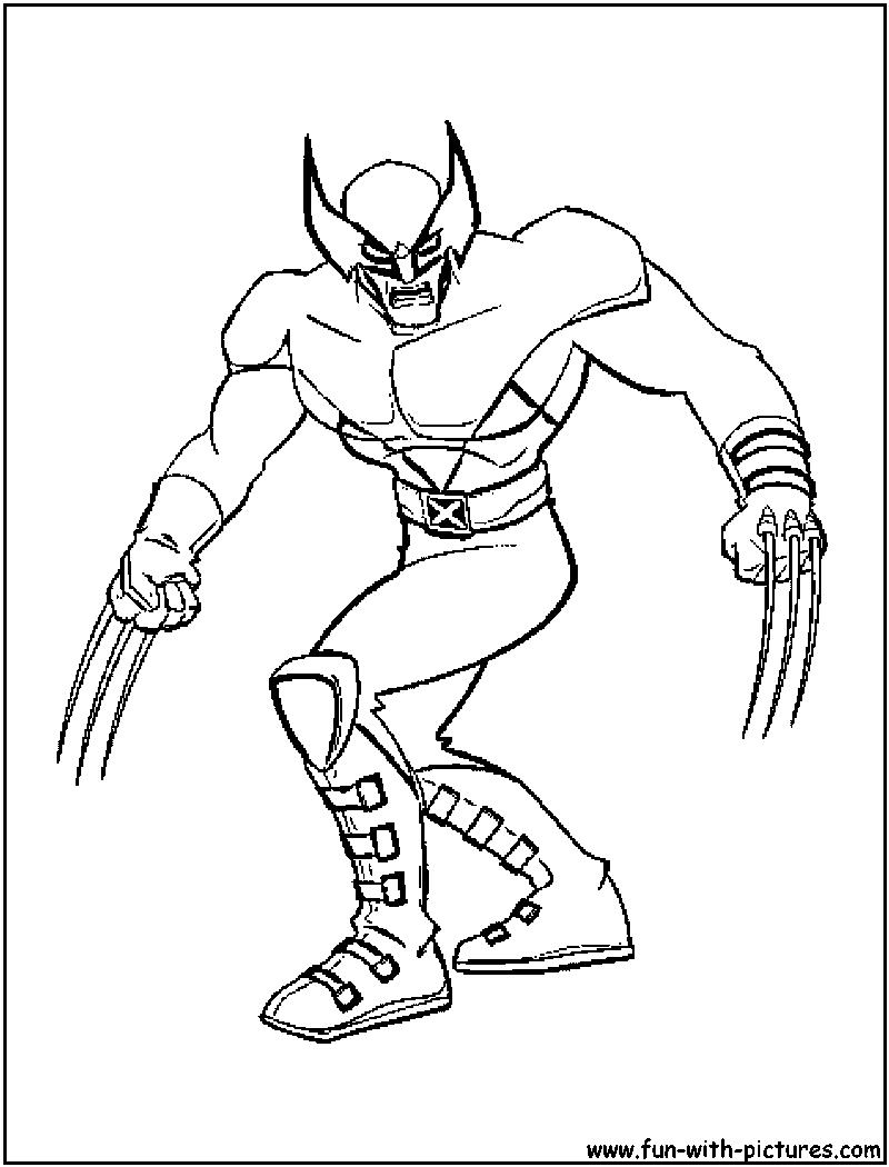 Xmen Wolverine Coloring Page Superhero Coloring Pages Cartoon Coloring Pages Avengers Coloring Pages