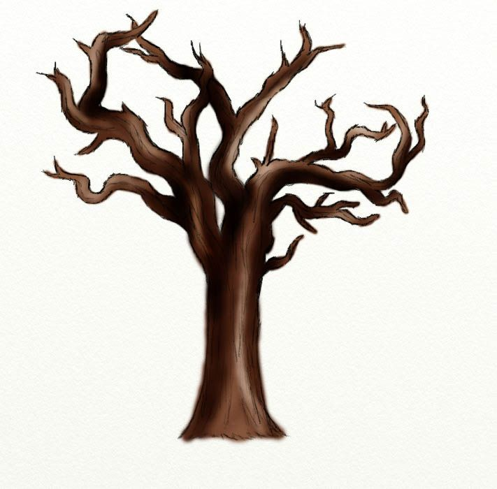 how to draw a dead tree rh pinterest com  dead tree clipart