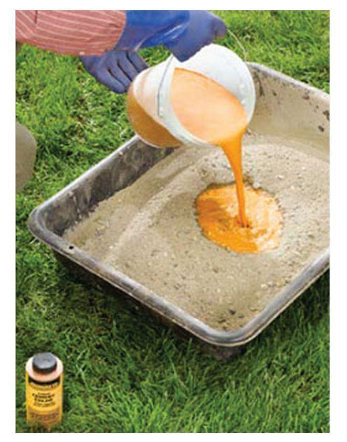 чем покрасить цементный раствор
