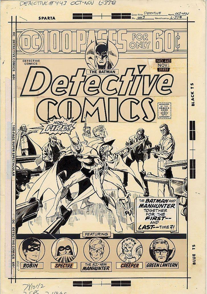 Original cover art by Jim Aparo for Detective Comics #443 ...