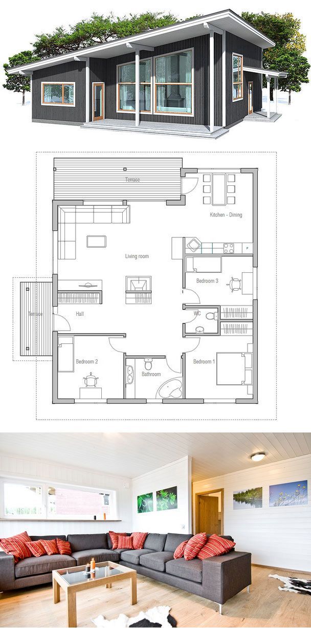 plan de petite maison obra Pinterest House, Architecture and - plan de maison simple