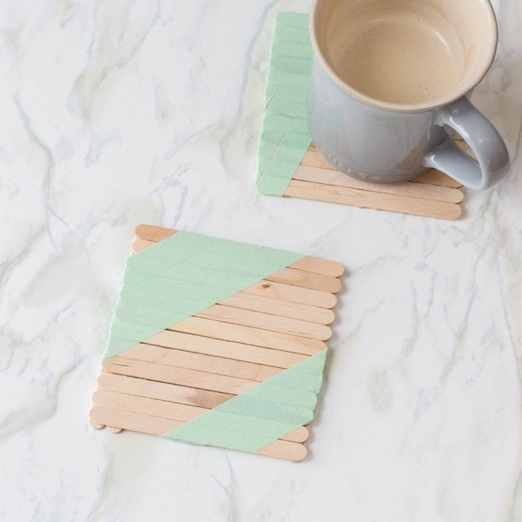 Photo of Popsicle Stick Craft: The Cutest DIY Coaster | Ideas for the Home