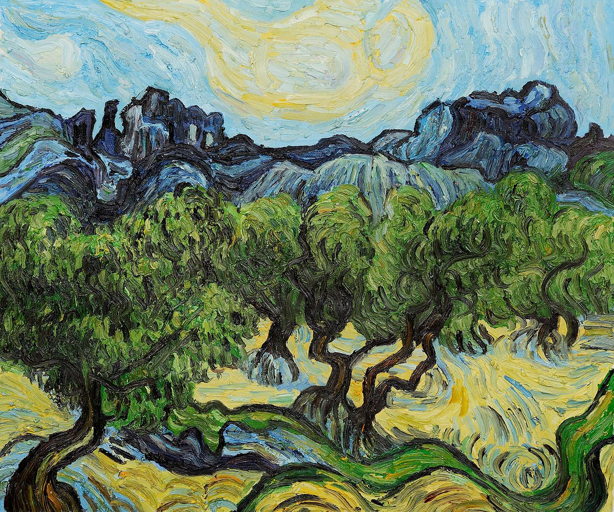 Olive trees in a mountainous landscape by vincent van gogh 1889 92 olive trees in a mountainous landscape by vincent van gogh 1889 92 cm 725 cm reviewsmspy