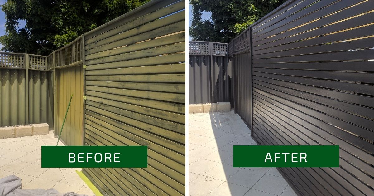 Fence Makeovers Perth Before And After Colour Monument Fence