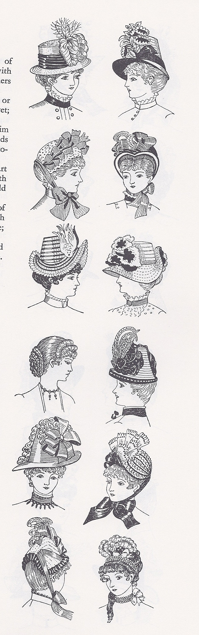 Hats and hairstyles from 1884-5