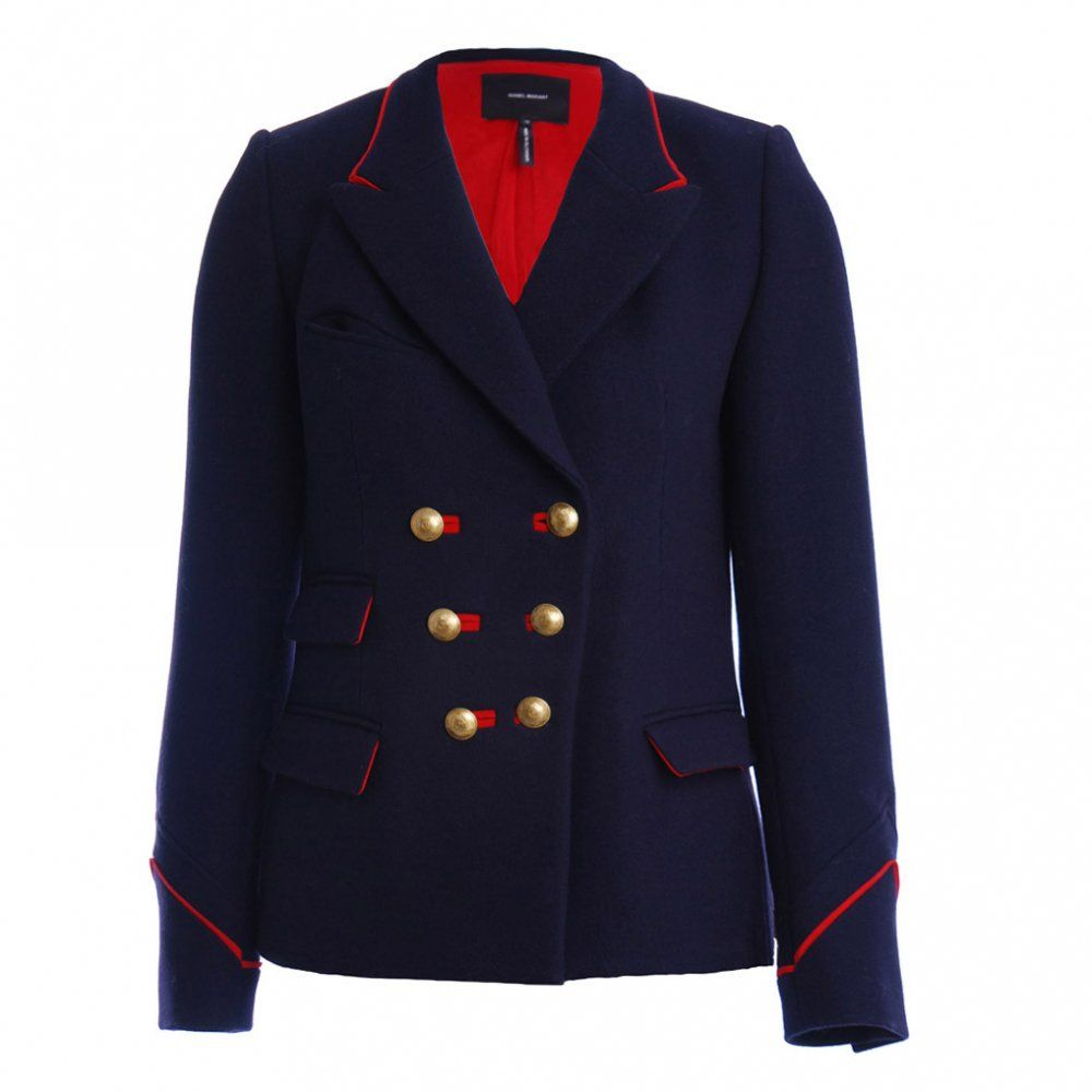 Isabel Marant Daste Military Jacket Blazer Double Breasted