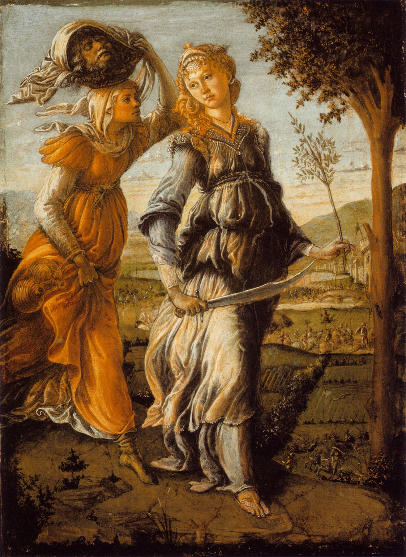 SANDRO BOTTICELLI ( 1445 - 1510) - The return of Judith to Bethulia ...