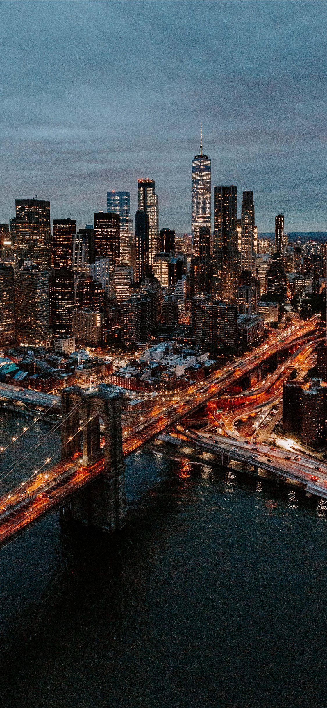 Luftaufnahmen Von Gebauden Und Brucken Iphone 11 Wallpapers In 2020 New York Wallpaper City Aesthetic Bridge Wallpaper