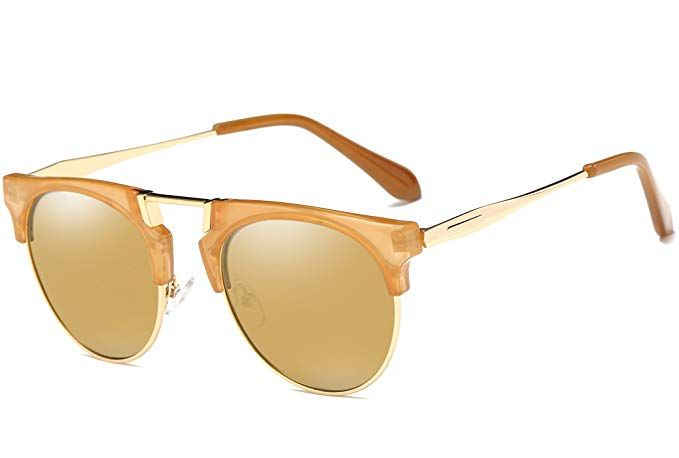 0bab76d589 Joopin Semi Rimless Polarized Sunglasses Women Men Brand Vintage Glasses  Plaroid Lens Sun Glasses (Matte