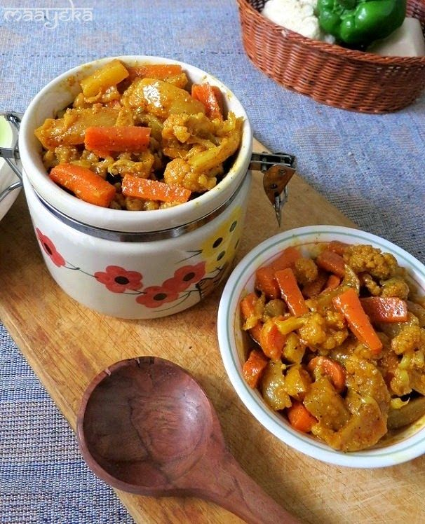 Sweet and sour winter special pickle of carrot cauliflower and sweet and sour winter special pickle of carrot cauliflower and turnips indian vegetarian recipesindian food forumfinder Image collections