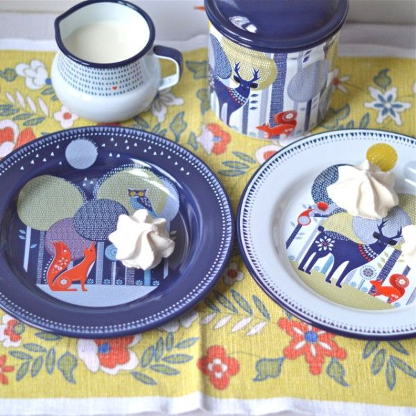2 assiettes Night and Day Folklore - deco-graphic.com