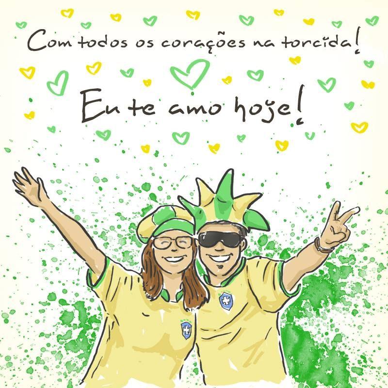 Com todos os corações na torcida! #euteamohoje #brasil #amobrasil #teamobrasil