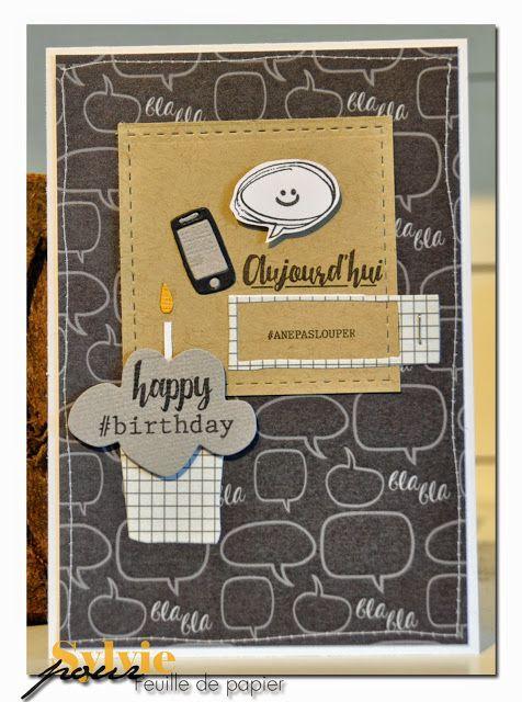 Feuille de Papier - scrapbooking: Une carte d'anniversaire de SylvieB:  12-05-2015