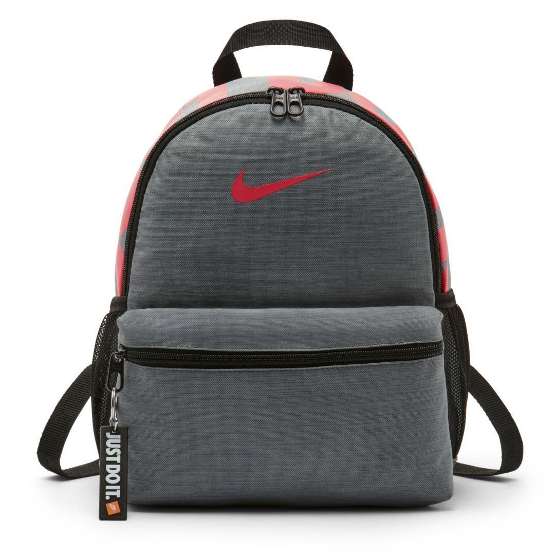 bbc4a4cc76 Nike Brasilia Just Do It Kids  Backpack (Mini) Size ONE SIZE (Cool Grey)