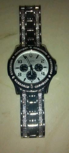 bulova mens watch swarovski crystals mike s watch bulova mens watch swarovski crystals
