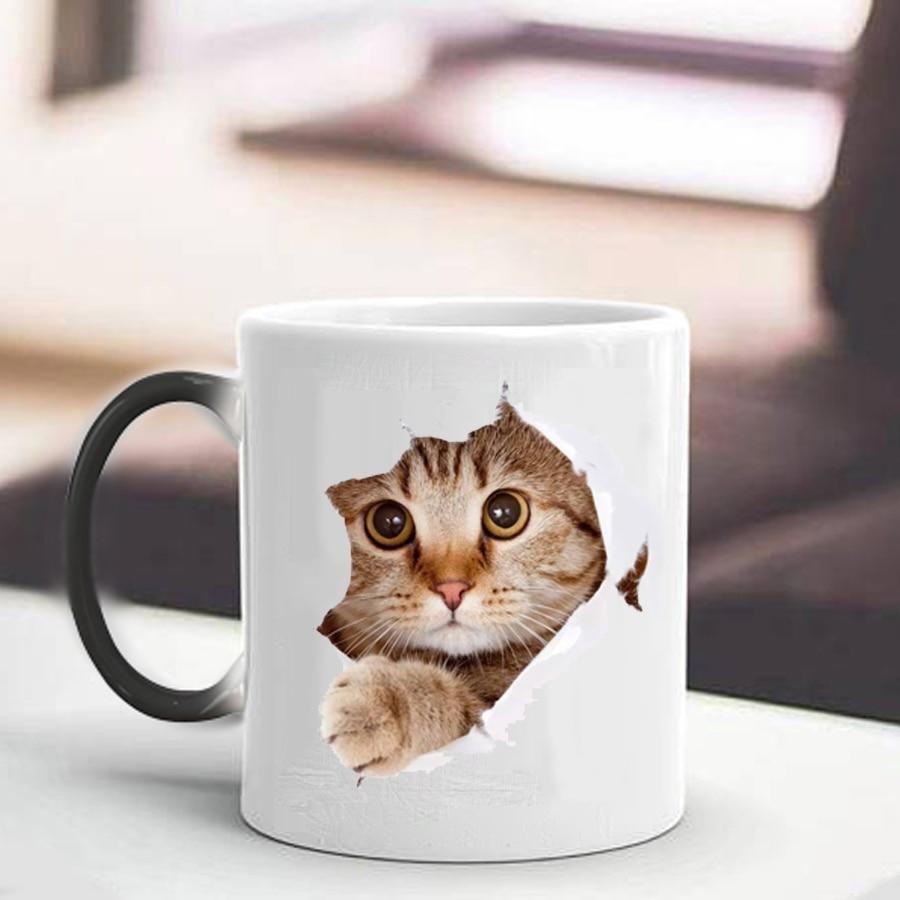 Ceramic Cat Faces Tea or Coffee Cup Mug