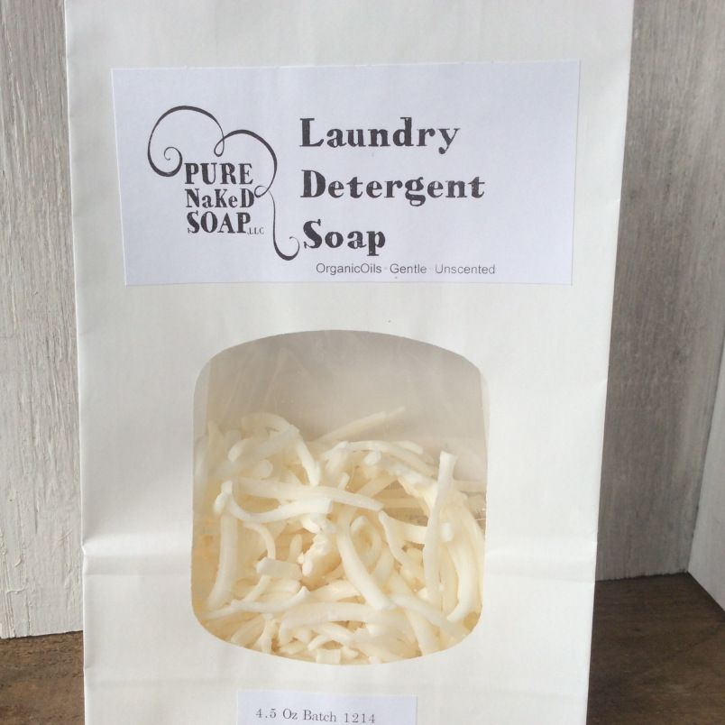How to make Washing Soap Shreds into Laundry Detergent      | Pure Naked Soap