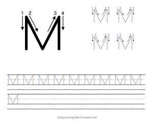 learning how to write the capital letter m so smart preschool activities fun learning. Black Bedroom Furniture Sets. Home Design Ideas