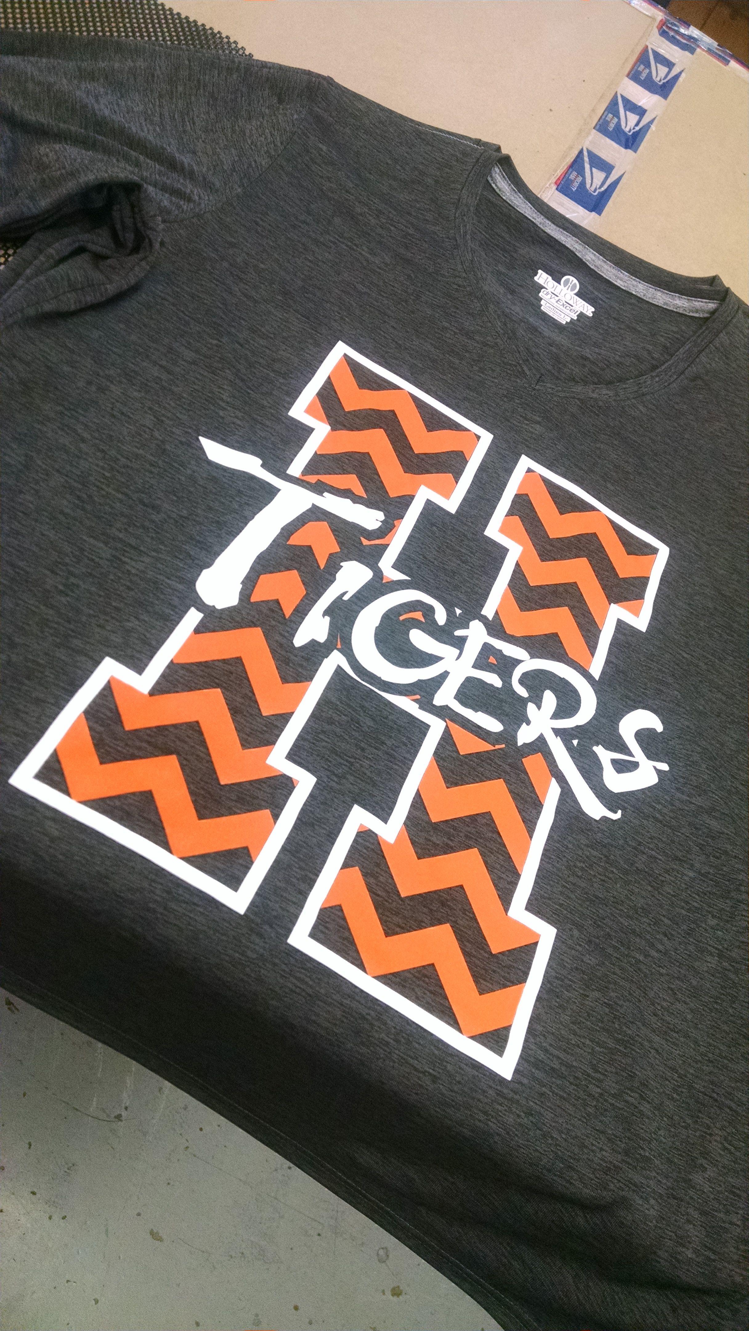 Hastings Tiger Chevron Apparel T Shirt Tee Shirt Design
