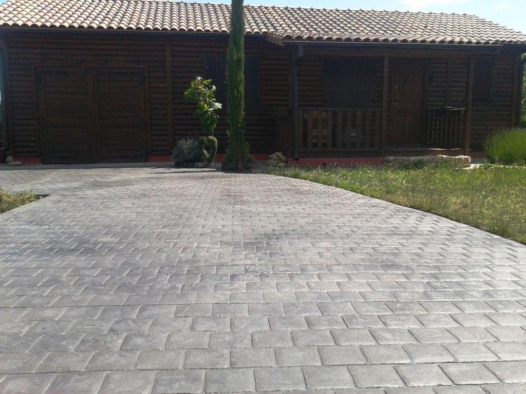 Pavimento De Hormigón Impreso Molde Baldosa Y Ankare Zaline Gris Plata Hormigon Impreso Suelos De Exterior Casa De Ensueño