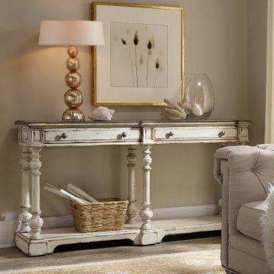 Amazing Hooker Furniture Sanctuary Vintage White Thin Console 5403 Home Interior And Landscaping Mentranervesignezvosmurscom