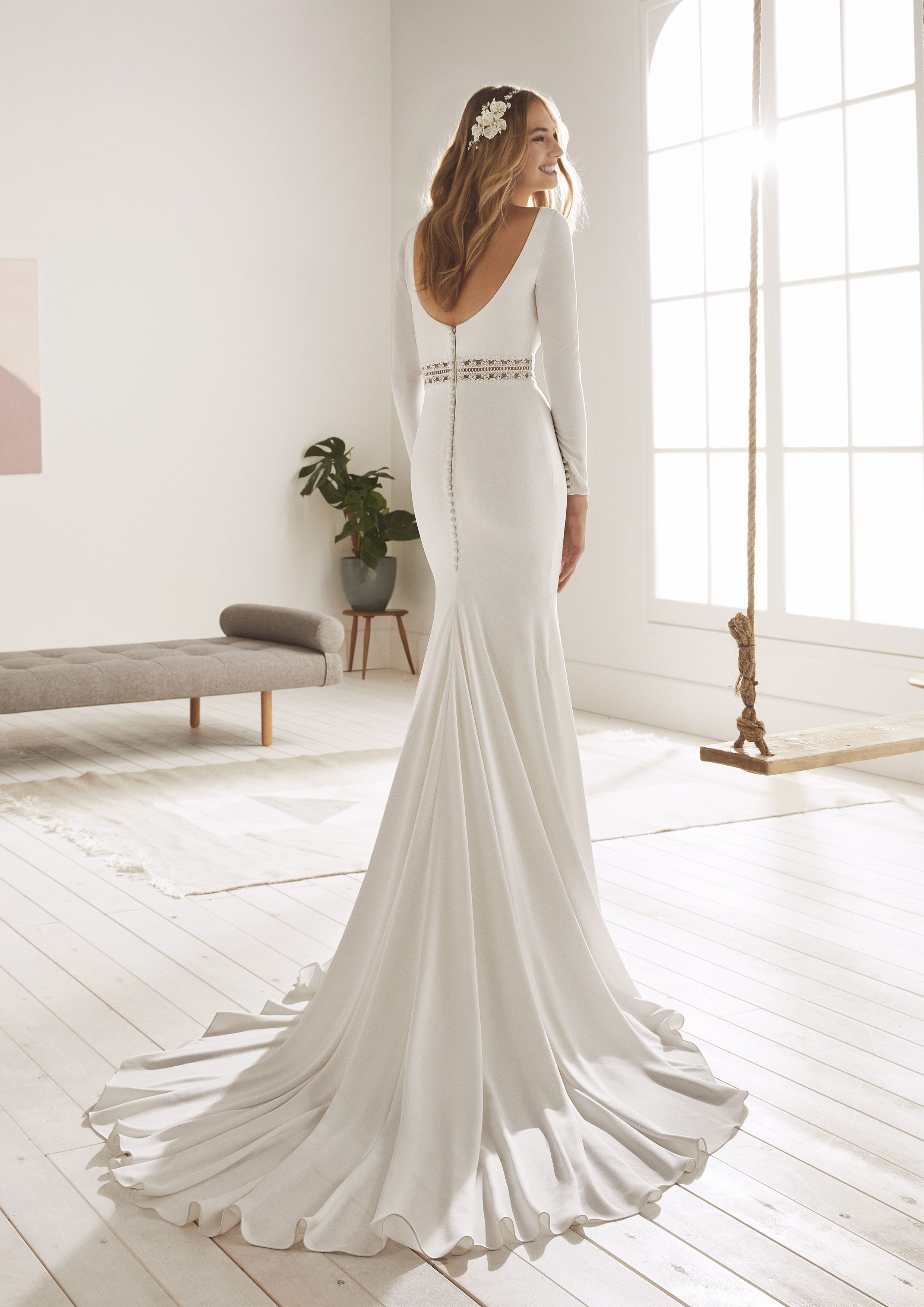 White One 2019 Collection Oboe Wedding Dresses Elegant Bridal Gown Wedding Dresses Lace