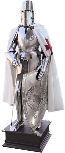 Templar Knight Suit of Armor by Marto of Toledo Spain (Templar Seal)