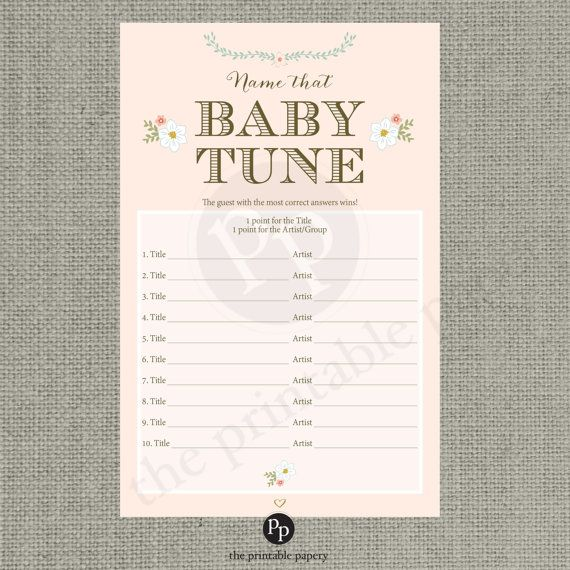 printable name that baby tune baby shower game blush floral typography baby songs bfr1 2 game