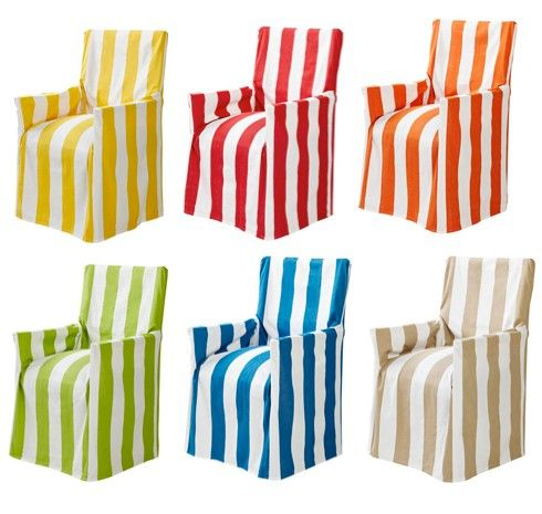 Superieur DIRECTORS CHAIR COVER New 100% Cotton Assorted Beach Stripe Outdoor Chair  Slip | EBay