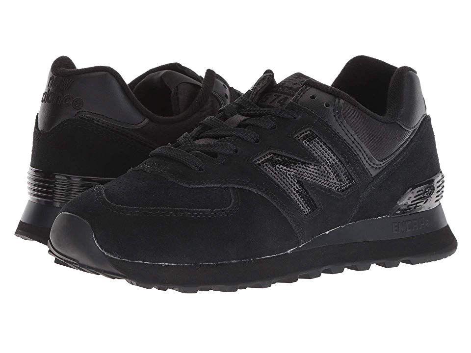 New Balance Classics WL574v2 (Black/Black) Women's Running Shoes ...