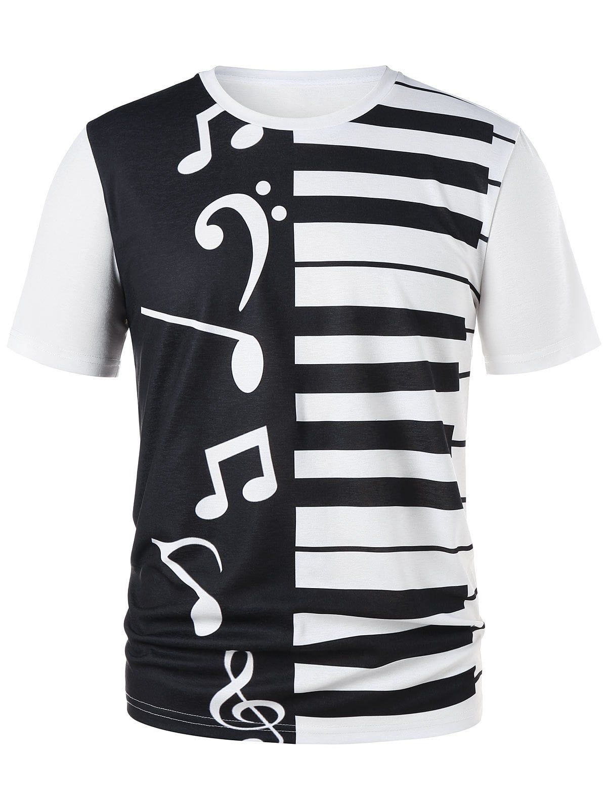 ed8ab1d6a Piano Keys Notes Print Graphic Tee Piano Keys Notes Print Graphic Tee  price:19.24