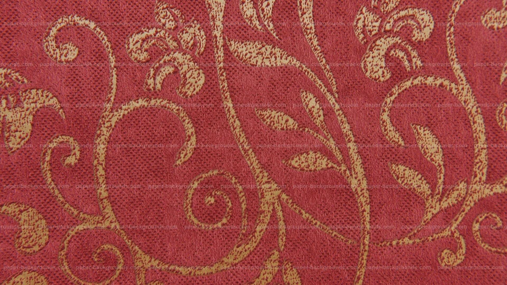Floral Pattern Carpet Red Design Texture