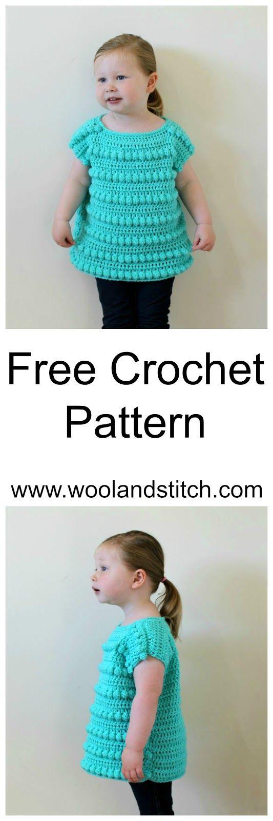 MINI KIDS BOBBLE TOP – FREE CROCHET PATTERN – Wool and Stitch   Moda ...