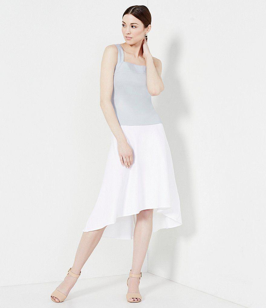 Antonio Melani Spencer Stretch Linen Hi-Low Skirt | Antonio melani ...