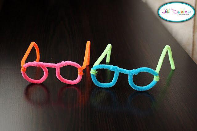 Pipecleaner glasses, thinking glasses.